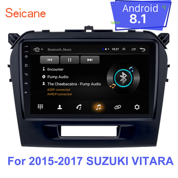 Seicane Android 8.1 Double Din Car Multimedia Player Radio GPS Navigation HD 1080P For 2015 2016 2017 Suzuki vitara Mirror link image
