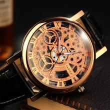 YAZOLE Mens Watches Top Brand Luxury Skeleton Watch Men Watch Fashion Men's Watch Clock Relogio Masculino Hombre Saat Wristwtach