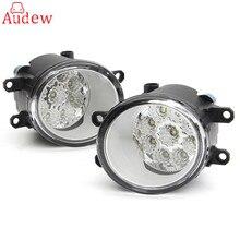 2 шт. Круглый Передние противотуманные свет лампы DRL дневного вождения Бег огни для Toyota Corolla/camry/Yaris /Vios/RAV4