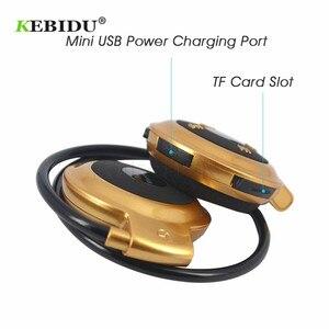 Image 5 - Kebidu TF + FM + MP3 Neckband אלסטי מקופל אוזניות אלחוטי אוזניות אוזניות דיבורית ספורט מיני Bluetooth 5 צבעים זמין
