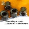 2 шт. подшипник HF081412 внешнее кольцо восьмиугольник/внешняя шестиугольная/гладкая поверхность/наружная накатанная односторонняя игла ролик...