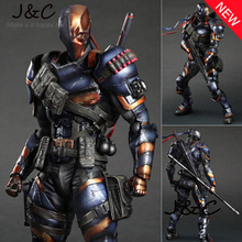 Free Shipping Hot Movie PLAY ARTS PA The Deathstroke PVC Action Figure Statue Doll Toy 27cm Model toys For Collection
