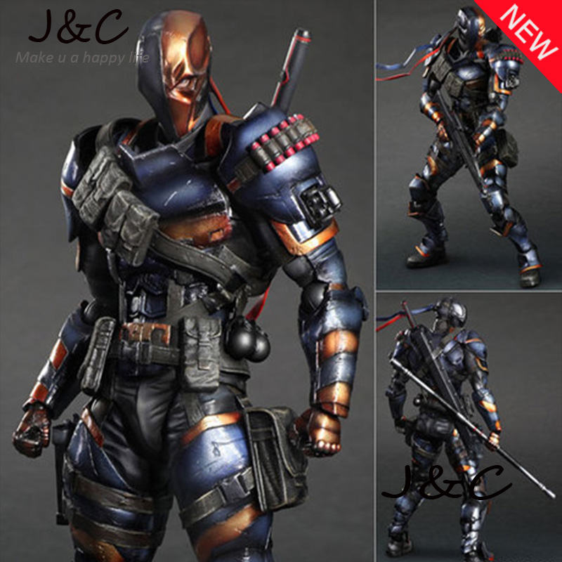 NEW Hot Movie PLAY ARTS PA The Deathstroke PVC Action Figure Statue Doll Toy 27cm Model toys For Collection цена