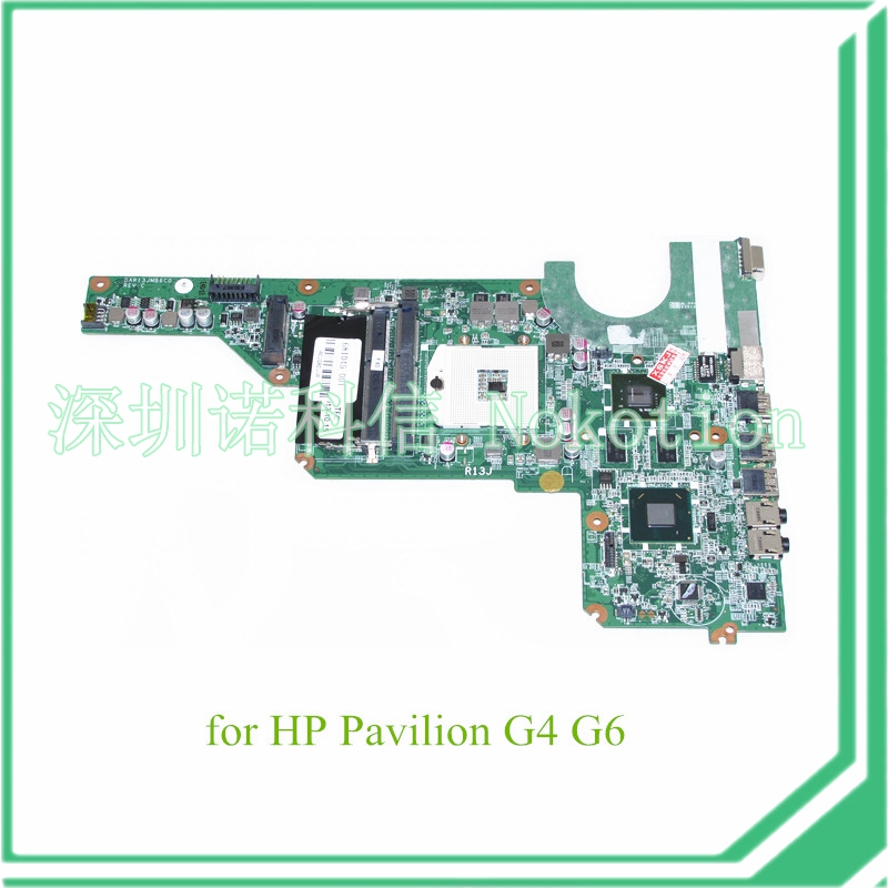 NOKOTION DAR13JMB6C0 REV C 681045-001 For hp pavilion G4 G6 laptop motherboard HM65 graphics 656092 001 main board for hp pavilion dm4 dm4 2000 laptop motherboard ddr3 with i3 2310m cpu