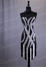 GOODANPAR Latin Dance Dresse dziewczyny panie kobiety Sexy Tassel Latin sukienki bez rękawów odzież sceniczna Salsa Rumba Samba Cha Cha