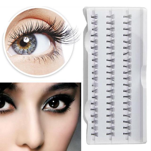 dafe5f805f3 8/10/12/mm Makeup Individual Cluster Eyelashes False Eye Lashes Extension  Long Patches For Eyelash Extension Cosmetic Tools