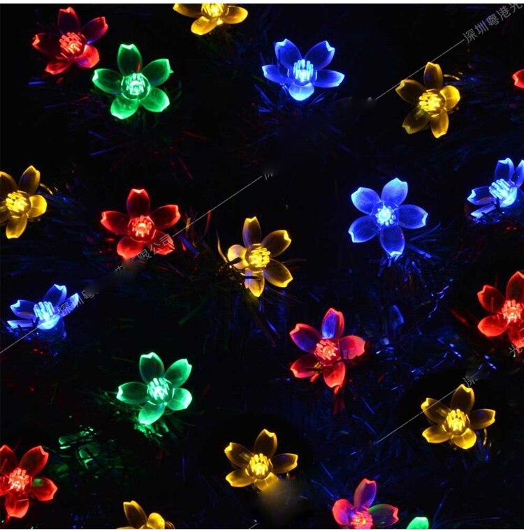 AC220V 10M 50LED Вишневе Квітка Різдвяні - Святкове освітлення - фото 5