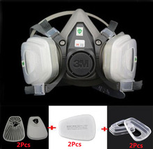 3M 6200 Half Face Gas Mask 7 in 1 Suit Industry Painting Spraying 6200 N95 PM2.5 Safety Anti Dust Respirator Mask