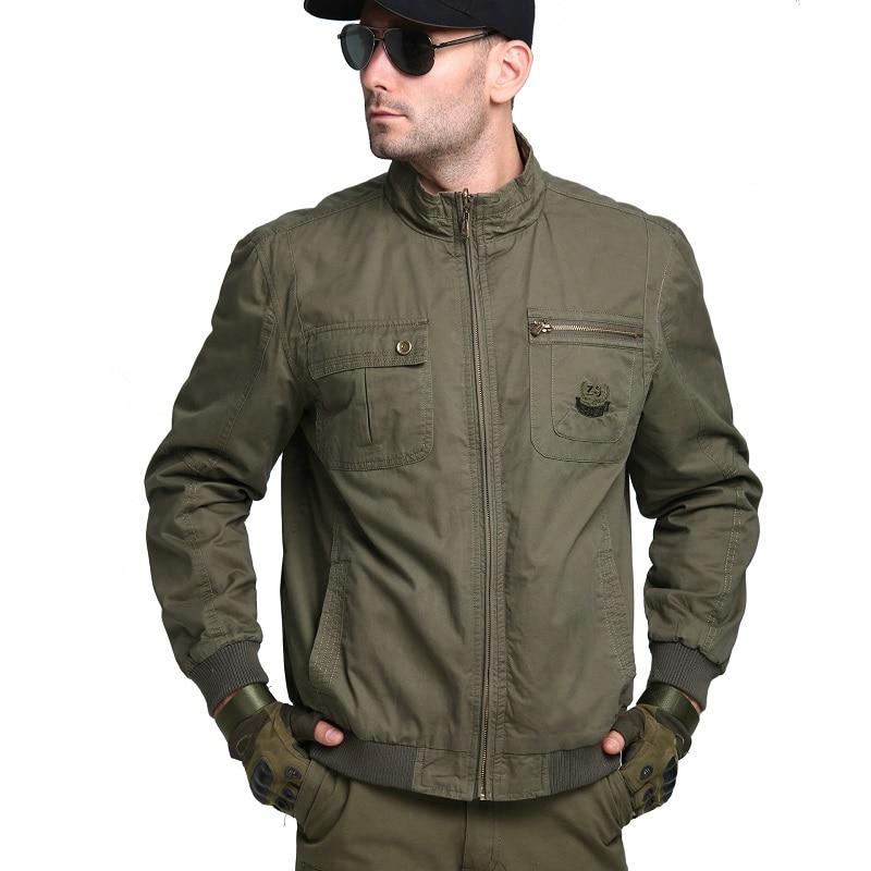 Men Jacket Spring Autumn New Arrival Men's Cotton Casual Double-Faced Jacket Coat Mens Military Outerwear Safari Jackets Male