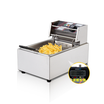 Commercial Electric Fryer Single Cylinder Fry Pan High Capacity Frying Machine Fried Chicken French Fries Home Thicker Fryer Картофель фри