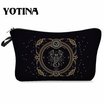 Yotina Makeup Bag Women Cosmetic Bag With Multicolor Pattern  3D  Printing neceser Toiletry Bag Travel makeup Organizer