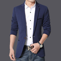 Winter New Style Sky Blue Small Suit Men S Korean Version Of Self Cultivation Leisure