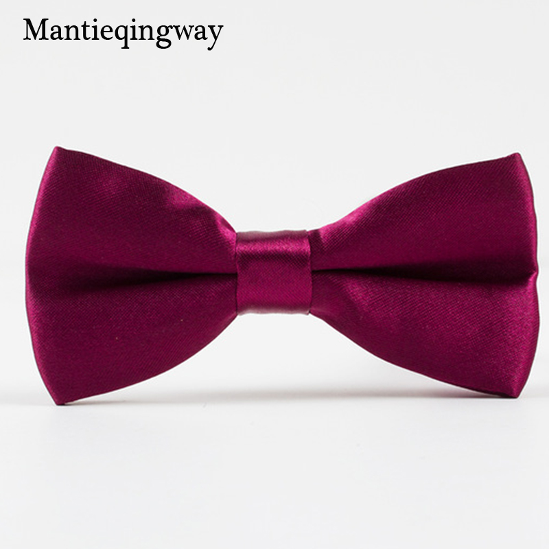 Mantieqingway Formal Candy Color Children Bowtie Kids Wedding Boys Bow Ties Cravat Bowties Black Solid Polyester Bowtie Tuxedo