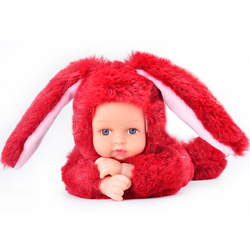 UCanaan Weichem Plüsch Stofftiere Für Kinder Kawaii 6 Farben Kaninchen Bär Kinder Spielzeug Speelgoed Reborn Puppen Brinquedos Mädchen Geschenke