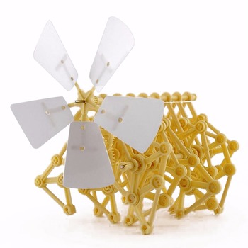 Creature Puzzle Wind Powered DIY Walker Strandbeest Assembly DIY Model Building Kits Toy Environmental Educational Toys Gift theo jansen mini strandbeest model wind power beast diy educational toys handmade science experiment toys child birthday gift