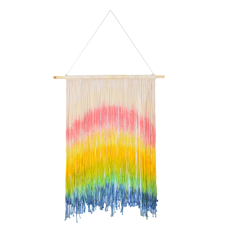Nordic Baby Room Wall Hanging Decoration Scandinavian Wall Decor Shelf Kids Room Decoration Rainbow Tapestry For Girl Room