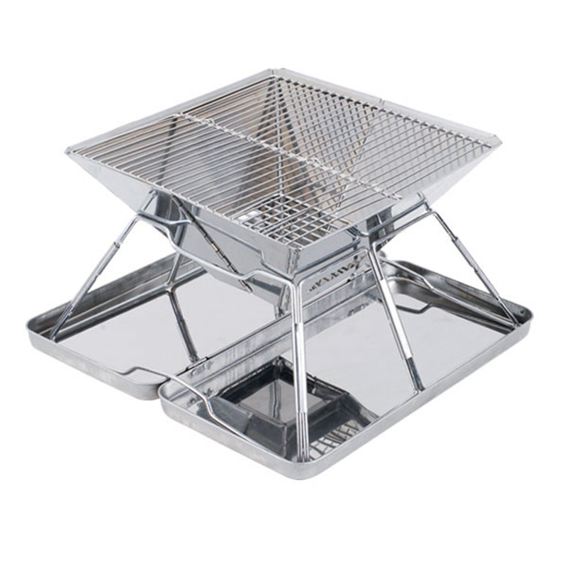 Stainless Steel Folding Grill Carbon Furnace Barbecue Portable Oven Outdoor Barbecue Portable Barbecue