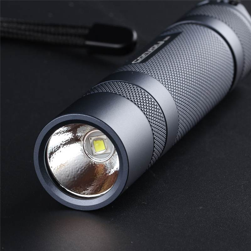 Convoy S21A 2300 Lumens Flashlight Copper DTP Board 18650 Battery 4 Modes Torch Light Camping Hunting Emergency Lamp Portable
