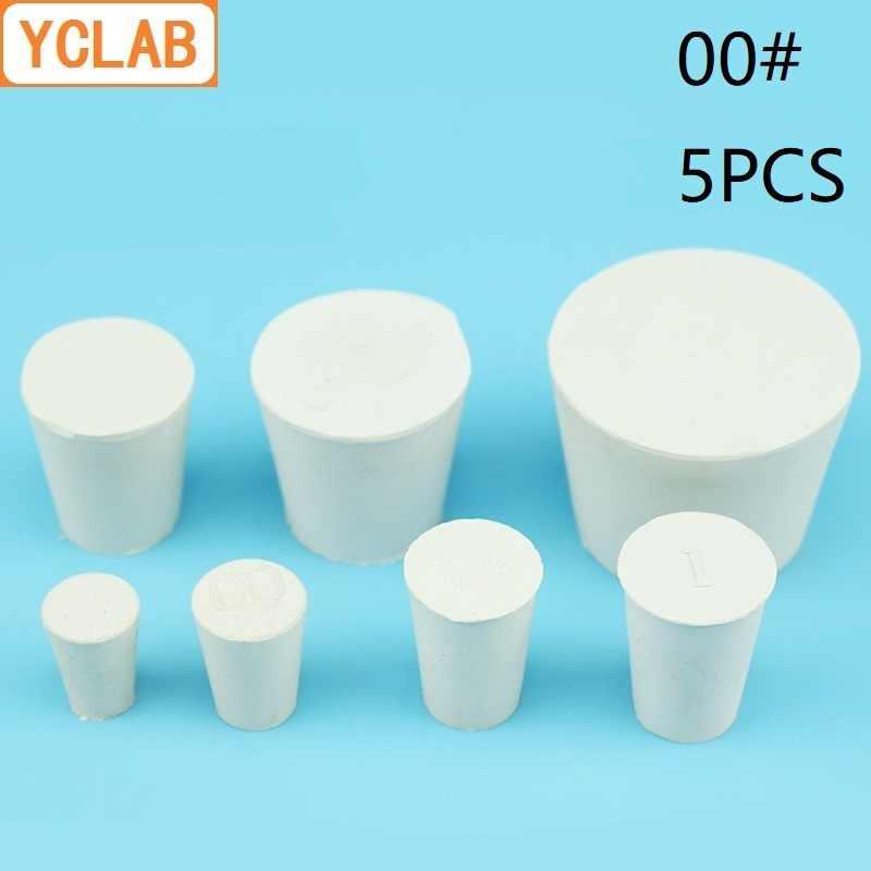 YCLAB 5 PCS 00 # Cao Su Stopper Trắng cho Bình Thủy Tinh Đường Kính Trên 15mm * Đường Kính Thấp Hơn 11mm phòng thí nghiệm Hóa Học Thiết Bị