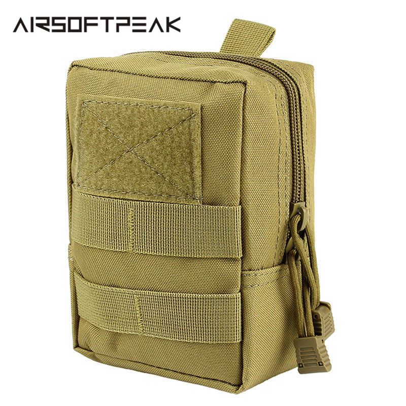 Outdoor 1000D Military Molle Pouch Belt Equipment Waist Bag Tactical Hunting Accessory Portable Waterproof Pouch Camping Hiking