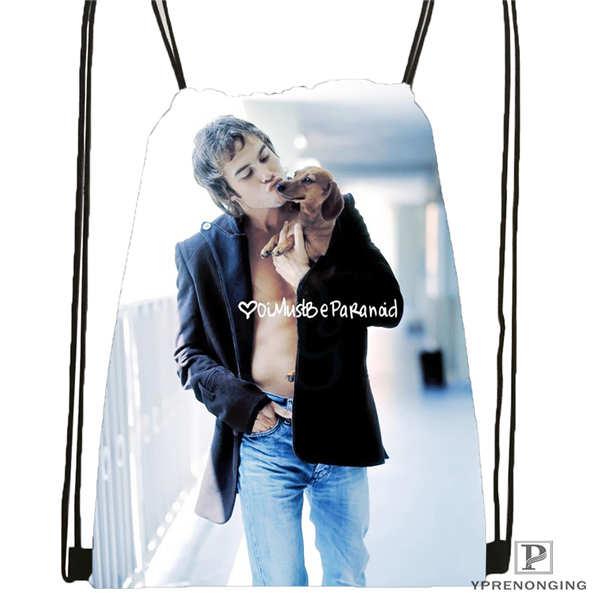 Custom Ian-Somerhalder-Lost-Reunion @01-Drawstring Backpack Bag Cute Daypack Kids Satchel (Black Back) 31x40cm#180611-03-102