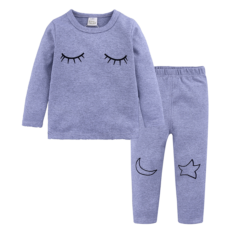 children home wear clothes kids Pajamas Sets boy girl night suit Cotton Sleepwear nightwear Long sleeve clothing 2018 lovely spring pure cotton thomas and friends children clothing long sleeve tops pants for 2 7 years boy kids pajamas sleepwear
