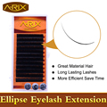 Wholesale 10 packs Ellipse Eyelash Extension All Size 8-15mm length 0.20 thickness 0.07 end False Mink Hair Individual Silk Lash