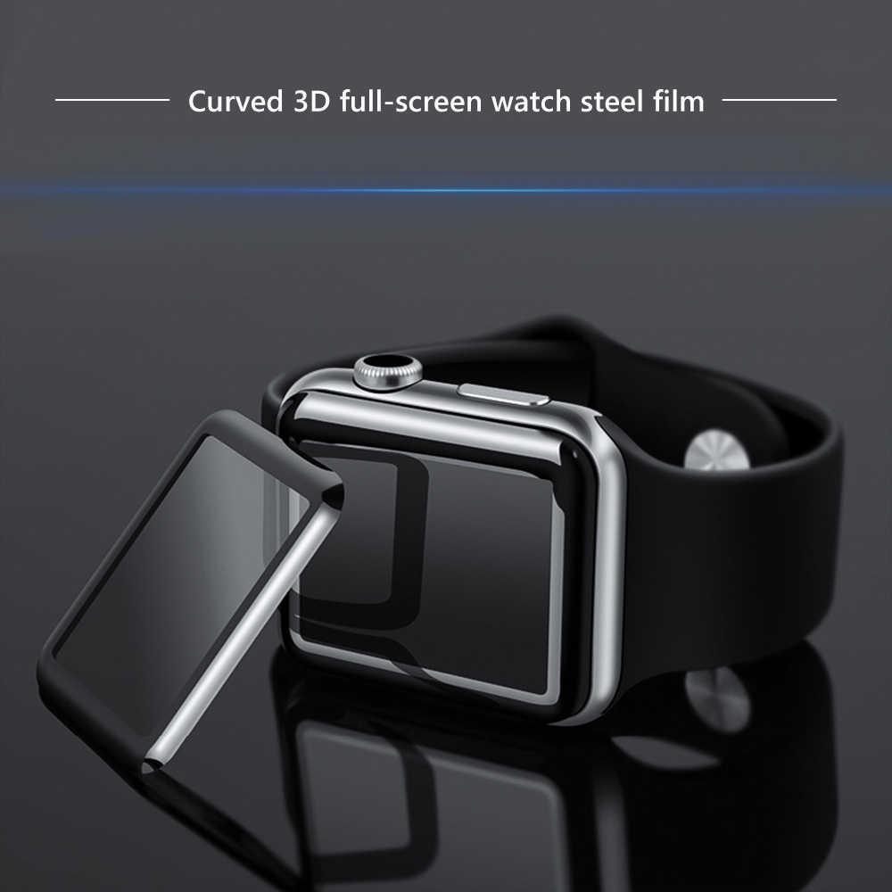 3D Kính Cường Lực Dành Cho Đồng Hồ Apple 38mm 42mm 40mm 44mm Series 4 3 2 1 5 bao Bọc toàn Cong Edge TPU Bảo Vệ Màn Hình Trong Cho iWatch 5