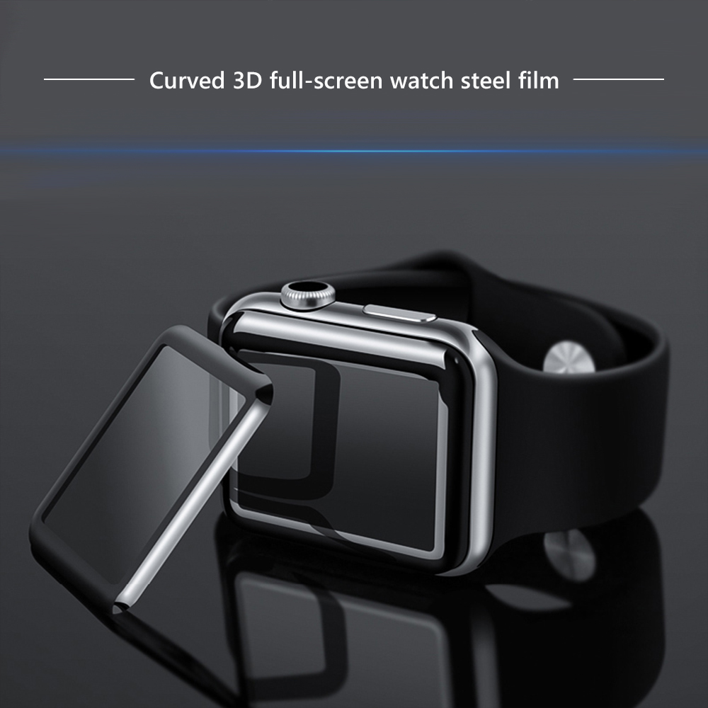 3D Tempered Glass For Apple Watch 38mm 42mm 40mm 44mm Series 4 3 2 1 Full Cover Curved Edge Soft TPU Screen Protector For IWatch