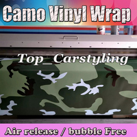 Large Snow ARMY Camouflage Vinyl For Car Wrap Film Camo Car Sticker Motorcycle Roof Mirror Styling