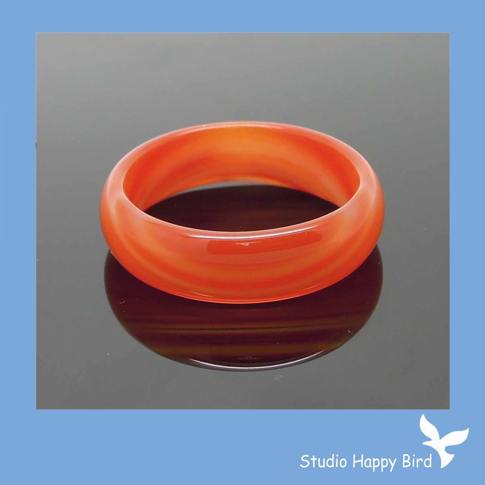 Free Sample Red Agate Band Ring Red Sardonyx Band Stone