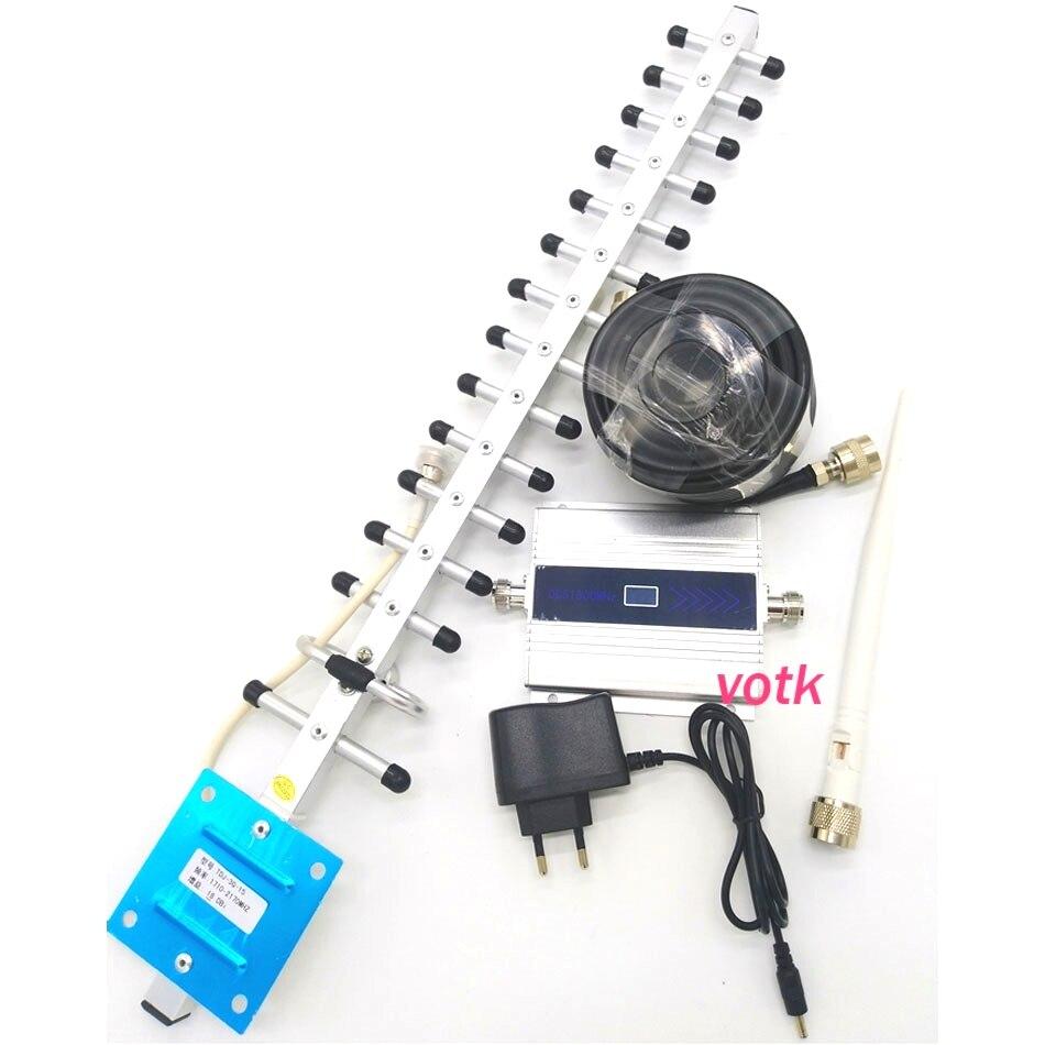 VOTK 4g DCS amplificateur de signal mobile LTE 1800 mhz DCS répéteur de signal de téléphone portable 2g 4g de signal amplificateur ÉCRAN LCD avec 18dbi yagi