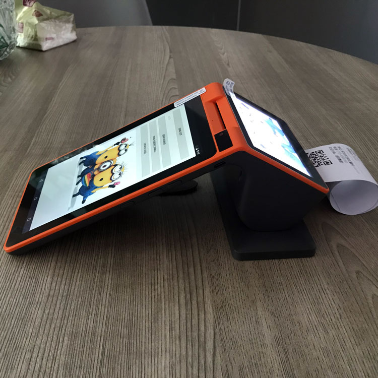 Printer Smart-Terminal Nfc Payment Free-Sdk Android 7inch with Rfid-Reader Support-Qr