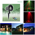 12 Big Patterns Red Green Christmas Landscape Outdoor Laser Lights Waterproof Laser Xmas Tree Garden Light decorative Show