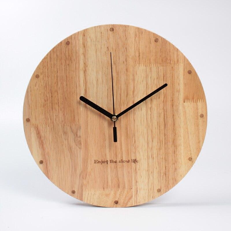 12 дюймовые простые большие круглые часы из липы для гостиной, креативные современные модные тихие деревянные часы для спальни|watch|clock oilclock pocket watch | АлиЭкспресс - Крутые настенные часы