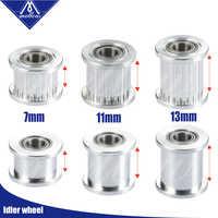 3D Drucker Teile 1 stücke GT2 Spann Timing Pulley 20 Zahn Rad Bohrung 5mm Aluminium Getriebe Zähne für GT2 zahnriemen 6/9/10/12 MM