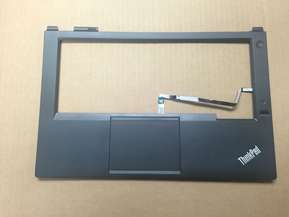 New Original for Lenovo ThinkPad T440P Palmrest Keyboard Bezel Cover Upper Case with Touchpad + Fingerprint Reader 04X5394 new original for lenovo thinkpad t560 p50s palmrest upper case keyboard bezel top cover with touchpad 00ur857