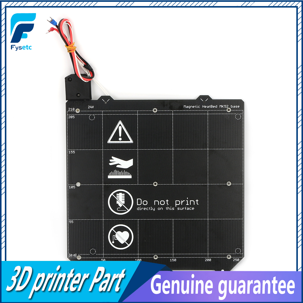 Clone Prusa i3 MK3 3D Printer Y carriage Magnetic Heated Bed 24V MK52 Wiring Thermistor Kit