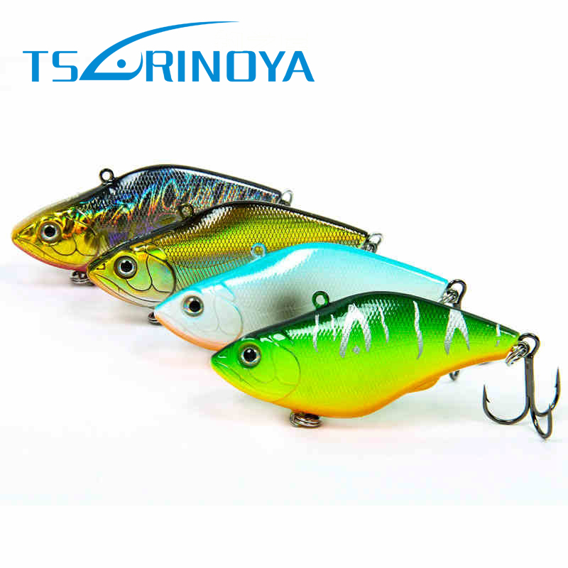 Tsurinoya 1pc Hard Fishing Lure 70mm 13.8g VIB Fishing Bait Vibrotion DW22 Hard Plastic Artificial Bait Fishing Tackle