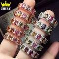 Mujeres joya natural Turmalina anillo de plata de ley 925 de la Señora gema joyería piedra ZHHIRY