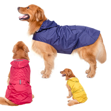 GLORIOUS KEK 3XL-6XL Large Dog Raincoat Waterproof Clothes Safety Reflective Breathable Mesh Lining Rain Jacket for Big Dogs