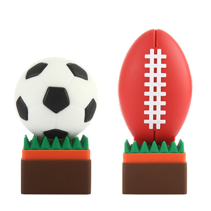 Football Pen Drive 4GB 8GB USB Stick 16GB 32GB Funny Cartoon Usb Flash Drive 64GB 128GB Pendrive High Quality Flash Memory Stick-in USB Flash Drives from Computer & Office
