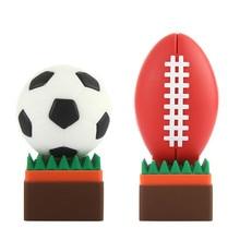 Football Pen Drive 4GB 8GB USB Stick 16GB 32GB Funny Cartoon Usb Flash Drive 64GB 128GB Pendrive High Quality Flash Memory Stick цена