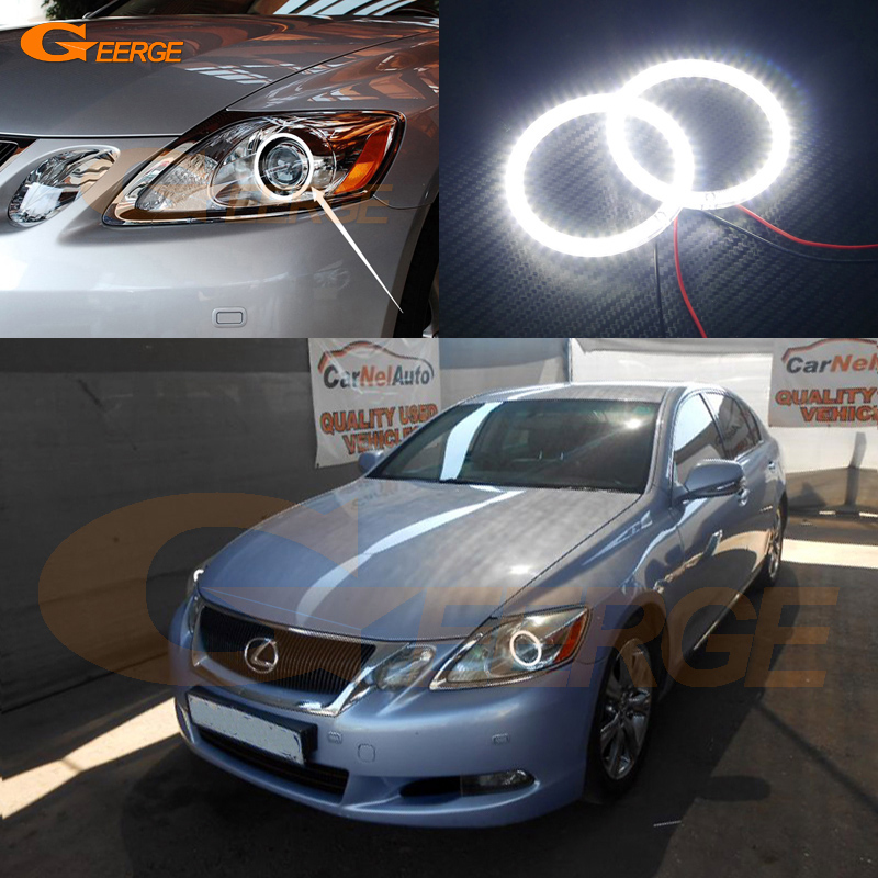 For LEXUS GS300 GS350 GS430 GS450 2006-2011 XENON headlight Excellent Ultra bright illumination smd led Angel Eyes kit купить