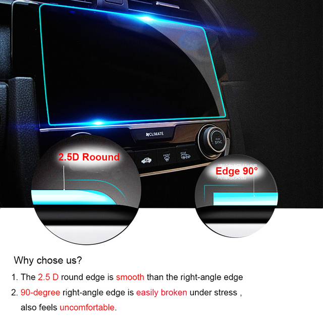 8 Inch for Volkswagen Tiguan Atlas 2018 2019 Tempered Glass Car Navigation Screen Protector LCD Touch Display Film Protector 4