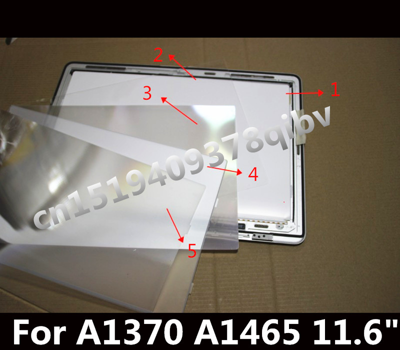 LCD LED Screen Display Backlight cd screen display back rear reflective sheets 5PCS for Laptop Macbook Air 11.6 A1370 A1465 uniquefire uf 1405 cree xpe red white green led flashlight 18650 long distance torch 300 lm rechargeable battery gun mount