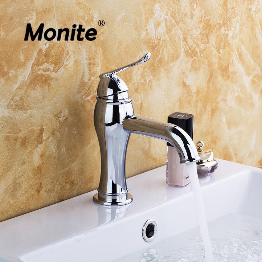 Brass Bathroom Single Handle Mixer Tap Chrome Finished: Bathroom Basin Sink Faucet Bathroom Faucets Stream Spray