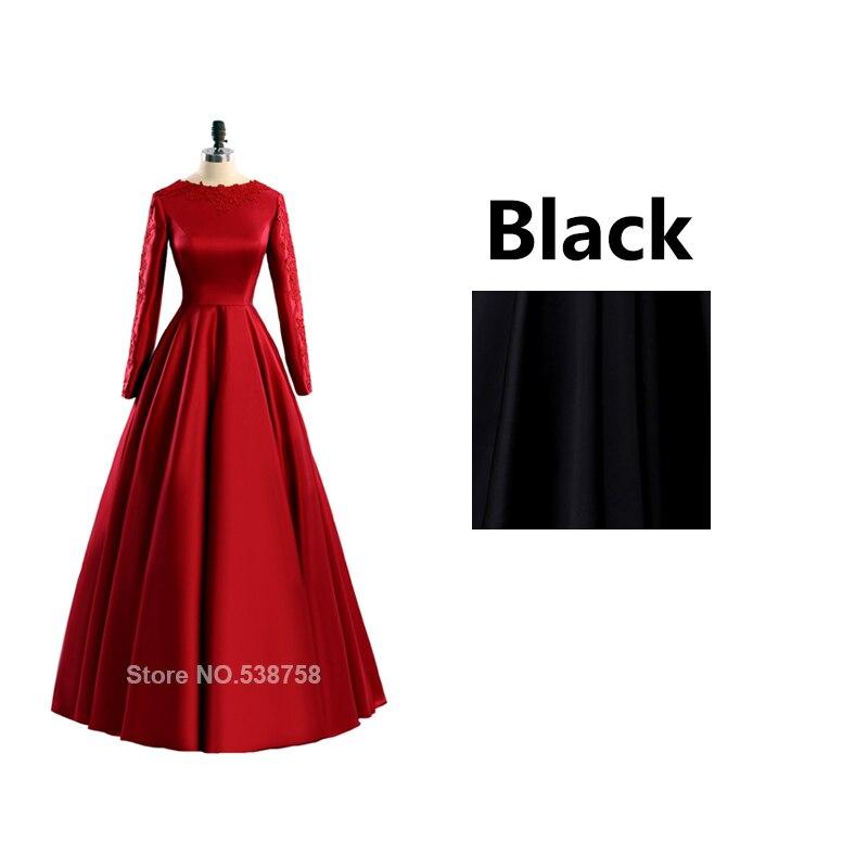 b8564ad8e4205e € 48.27 40% de réduction|Rouge robe de soirée à manches longues musulman  formelle de soirée de bal robes de soirée zuhair murad plus la taille ...
