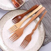 Japanese Tableware Mini Wooden Spoons Fork Child Small Japan Style Cutlery Bento Yemek Takimi Zestaw Obiadowy Talerze 619