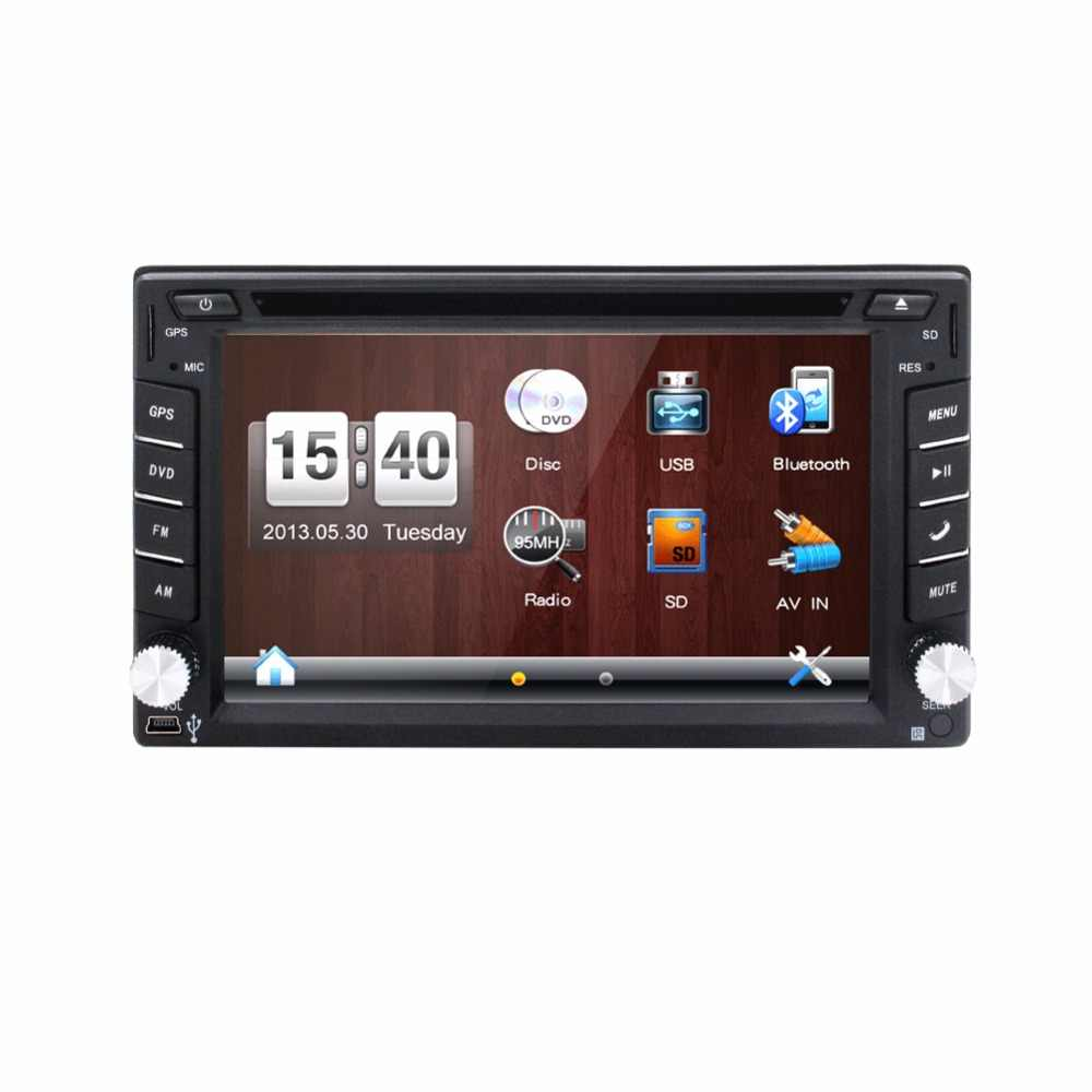 universal car radio double 2 din car dvd player gps navigation in dash car pc stereo  [ 1000 x 1000 Pixel ]